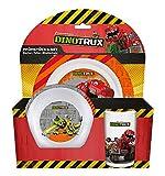 p:os 25413 DreamWorks Dinotrux Frühstücksset, Teller, Schüssel und Becher, 3 teilig