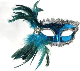 WXYXG Halloween Mask/Mysterious Venetian Shiny Lady Masquerade Halloween Mardi Gras Party Mask (Size : B)