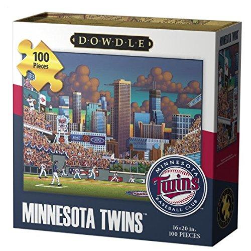 Dowdle Folk Art Jigsaw Puzzle - Minnesota Twins 100 Pc