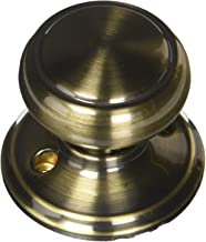 Schlage F170-AND Andover Single Dummy Door Knob from The F-Series, Antique Brass