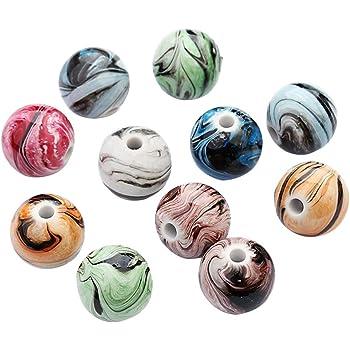 Mixte Aléatoire Perles Rondes Nombre de 7mm x 4 mm trou 1,2 mm-choisissez votre quantité