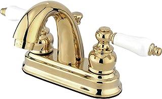Kingston Brass KB5612PL Restoration 4-Inch Centerset Lavatory Faucet, Polished Brass