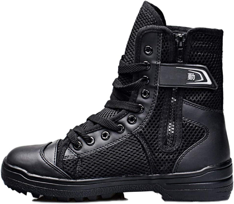 ASJUNQ Martin Boots Chukka Chelsea High-top Military Boots Waterproof Men's Desert Boots Non-Slip Wear-Resistant Hiking shoes