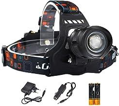 WWWL Koplamp LED Koplamp Hoge Power Koplamp Zoom Hoofd Torch Oplaadbare Zaklamp E