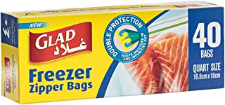 Glad Storage Zipper Freezer Bags 1 Quart - 40 Count
