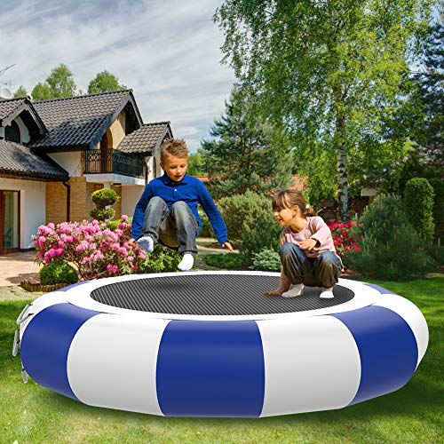 SURFMASS Inflatable Water Trampoline Swim Platform for Water Sports Safety Jumping Bouncers Water Park Play Center for Adult Kids