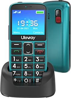 Uleway Big Button Mobile Phone for Elderly Easy to Use Basic Cell Phone Dual Sim Free Unlocked Senior Mobile Phone with SO...