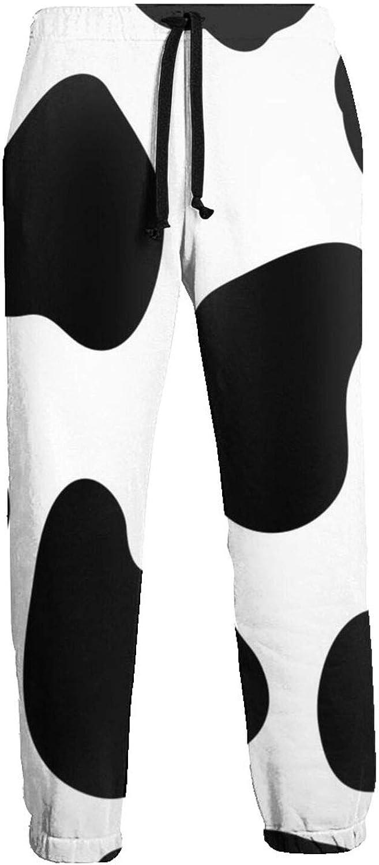 Men's Women's Sweatpants Cow Print Athletic Running Pants Workout Jogger Sports Pant