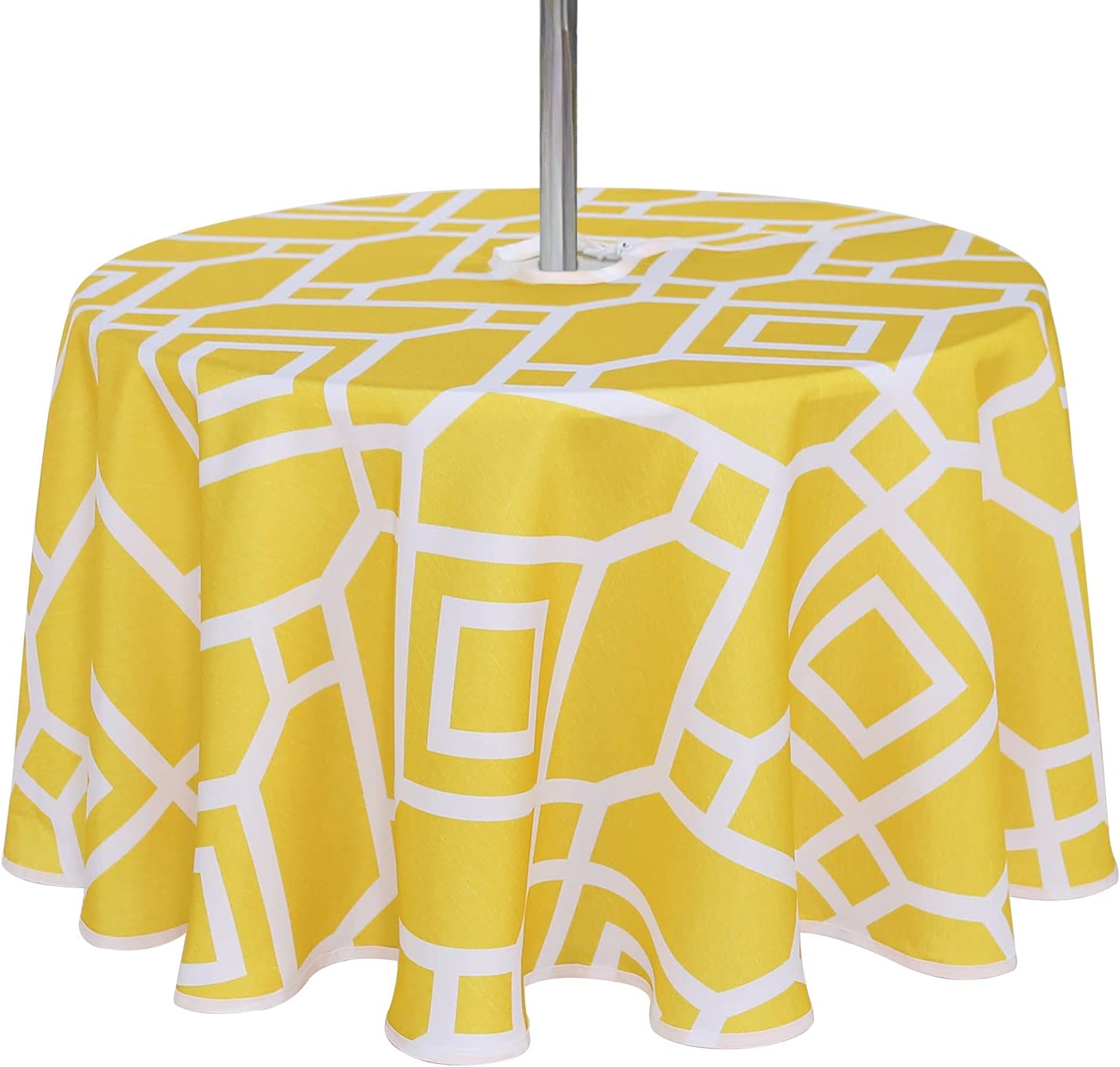 Limited time sale LUSHVIDA Moroccan Deluxe Outdoor and Indoor Tablecloth Water - Washable