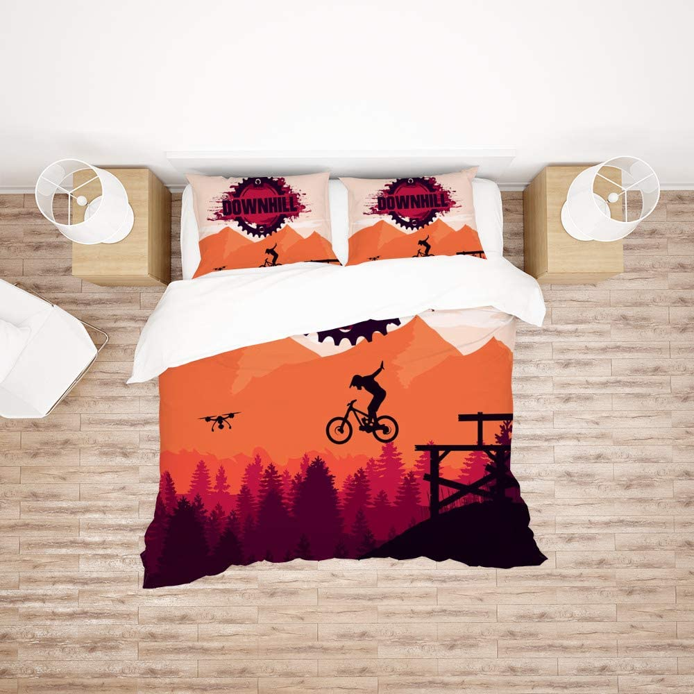 Bedding Sets California King Size 最安値 Downhill メーカー再生品 Mountain Biking Duvet