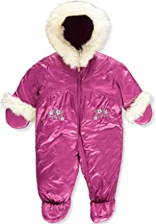 f30fe7fbf London Fog Baby Girls Sweet Quilted Faux-Fur Trimmed Snowsuit, One Piece (6