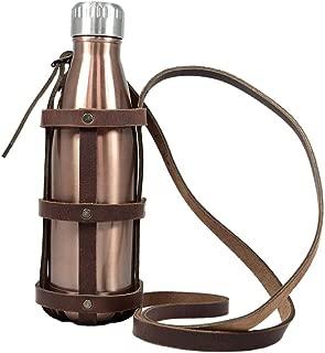 handmade leather bottle holder
