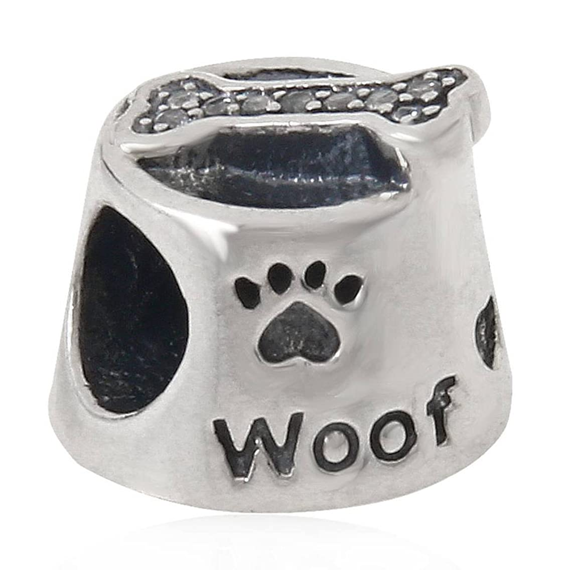 The Dog Bowl & Bone Charm Animals Beads fit for DIY Charms Bracelets