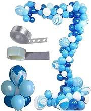 Balloon Arch & Garland Kit, Asonlye 128 Pcs Balloon Bouquet Kit, Holiday, Wedding, Baby Shower, Graduation, Anniversary Organic Party Decorations(Blue Kit)