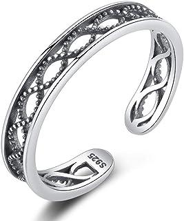 Anello d'argento tailandese S925 dell'ondulazione dell'acqua striscio mestiere anello di modo