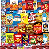 Ultimate Snacks Care Package - (50 count) Bulk Variety Sampler, Chips, Cookies, Bars, Candies, Nuts Gift Box, Great For Office Meetings , Friends & Family, Military, College Students (50)
