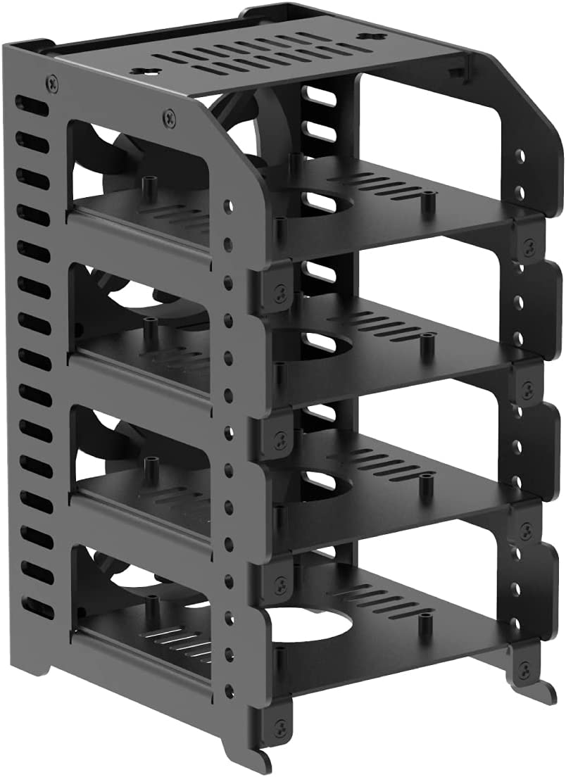 UCTRONICS Raspberry Pi Cluster Metal Super-cheap 4 Case Rack with Removable Albuquerque Mall