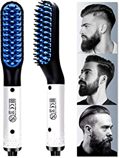 Chicare Beard Straightener, Multifunctional Hair Styler Electric Hot Comb and Beard Straightening Brush Hair Straightening Comb Quick Heated Brush Universal Voltage Portable Travel Hair Styling