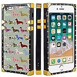 Naikuyi Funda para teléfono con iPhone 6 Plus (6+) / 6S Plus (6S+) – Funda cuadrada colorida patrón de salchicha funda de TPU de lujo con cuatro esquinas Protección de búfer fuerte pero no pesada