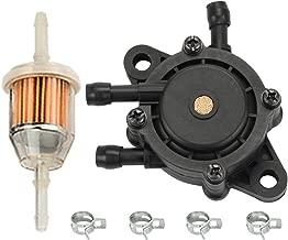 HIPA Fuel Pump + Fuel Filter for John Deere G100 G110 GT235 GT235E GT245 GX255 GX325 GX335 GX345 GX85 Lawn Mower Tractor