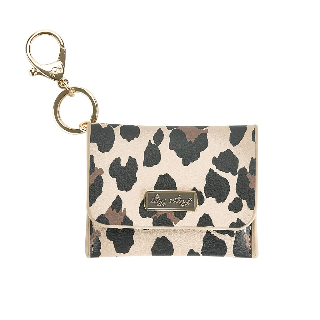 Itzy Ritzy – Itzy Mini Wallet Card Holder & Key Chain Charm; Can Clip to Diaper Bag, Purse, Travel Bag or Keychain; Leopard , 4x1x3.25 Inch (Pack of 1) : Clothing, Shoes & Jewelry