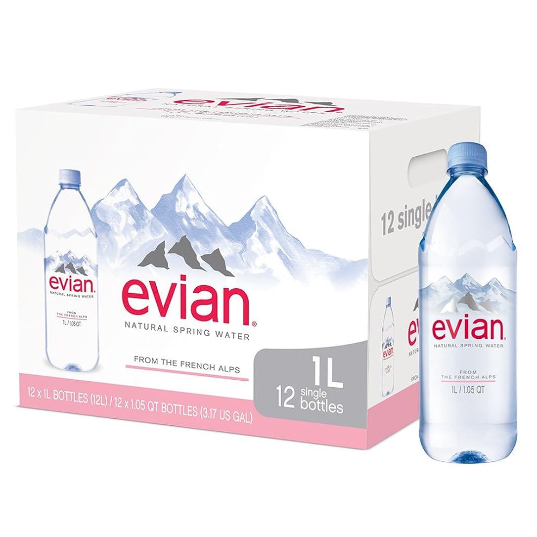 付添人配るアジャevian Natural Spring Water (12個入りボトル1ケース) 自然に濾過されたばね水ボトル Lサイズのボトル