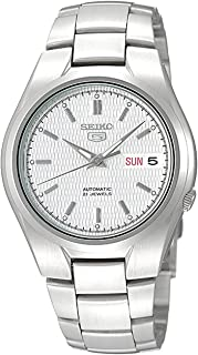 Men's SNK601 Seiko 5 Automatic Silver Dial Stainless Steel Bracelet Watch