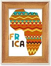 Mapa africano com listras de personagens de madeira para mesa de mesa, moldura para fotos, quadros de arte, vários conjuntos