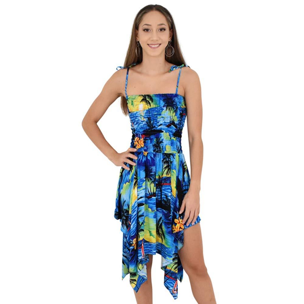 Available at Amazon: ISLAND STYLE CLOTHING Ladies Pixie Dress Sunset with Zig-Zag Hem