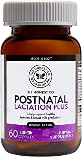 The Honest Company Postnatal Lactation Plus Multivitamin | Lactation Supplement with Milk Thistle & Fenugreek | Breastfeed...