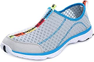 PAIRLERS Men Water Shoes Quick Dry Lightweight Beach River Surf Outdoor Walking Shoes