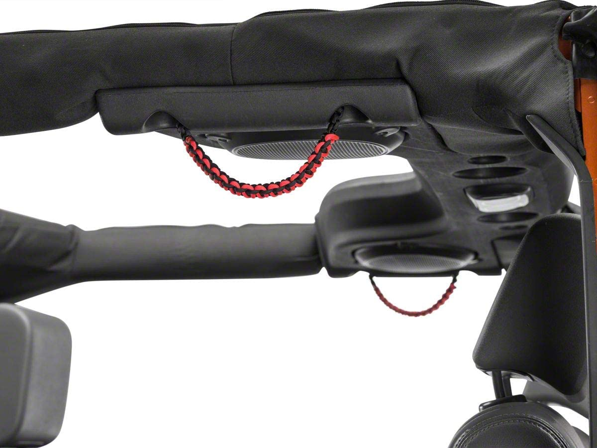 RED ROCK Rear Soundbar Paracord Grab Max 63% OFF Handles Black and Fi 70% OFF Outlet in Red