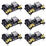 6 Pezzi Breadboard Modulo di Alimentazione per Arduino Board Senza Saldature Breadboard, 3.3 V/ 5 V