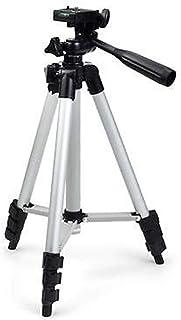 حامل ثلاثي من الالمنيوم قابل للطي والحمل بقاعدة ومع حقيبة لكاميرات الفيديو مع DSLRs حقيبة لونها اسود بتصميم يونيفيرسال