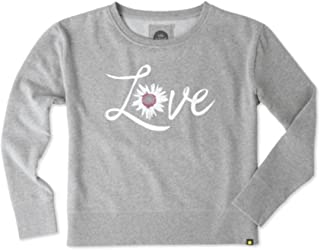 Life is Good Women's Go-to Crew Watercolor Daisy Love Sweater