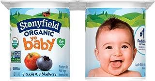 Stonyfield Organic, YoBaby Blueberry and Apple Whole Milk Yogurt, 4 oz, 6 Count