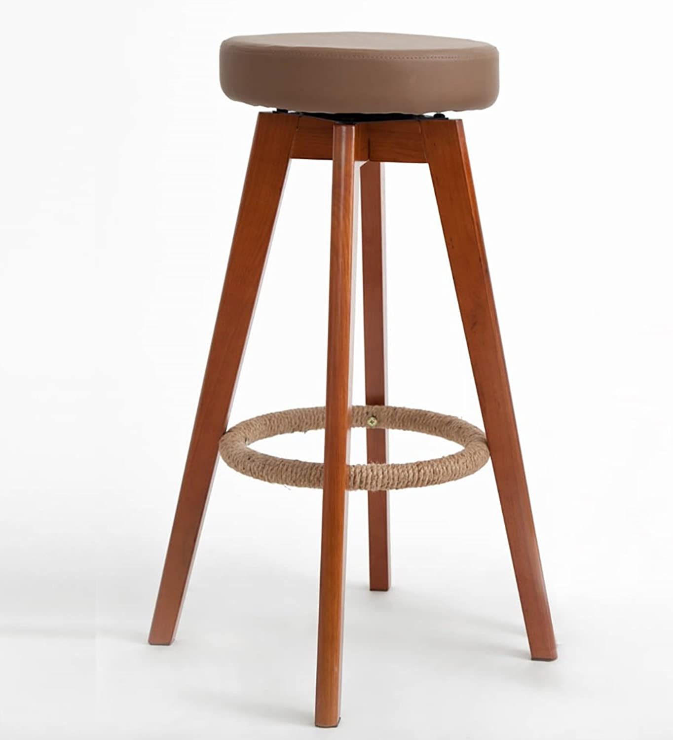 Barstools Modern Style Bar Stools Counter Chair,Multi-color Optional Modern redating Wood Assembly otating Wood Bar Counter Stools,Size  35  73cm Wooden Bar Stools (color   C, Size   455732cm)