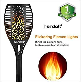 Hardoll Solar Lights for Home Waterproof Flickering Flames Torches Outdoor Landscape Lights for Decoration for Garden (Pack of 1)
