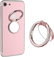 Mirror Cellphone Ring Stand Holder,VASIVO Smart Phone Ring Holder Series Stylish 360°Rotation 180°Flip Ring Stand Grip Mount for Smartphones (Rose Gold)