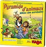 HABA- Pyramide d'Animaux – Mémo des acrobates, 302813, Coloré
