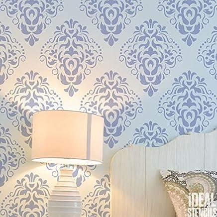 FLEUR DE LYS r/ép/éter Papier peint pochoir mural DE MAISON D/écoration Art /& artisanat pochoir peinture murs Fabrics /& Meuble 190 Mylar r/éutilisable pochoir