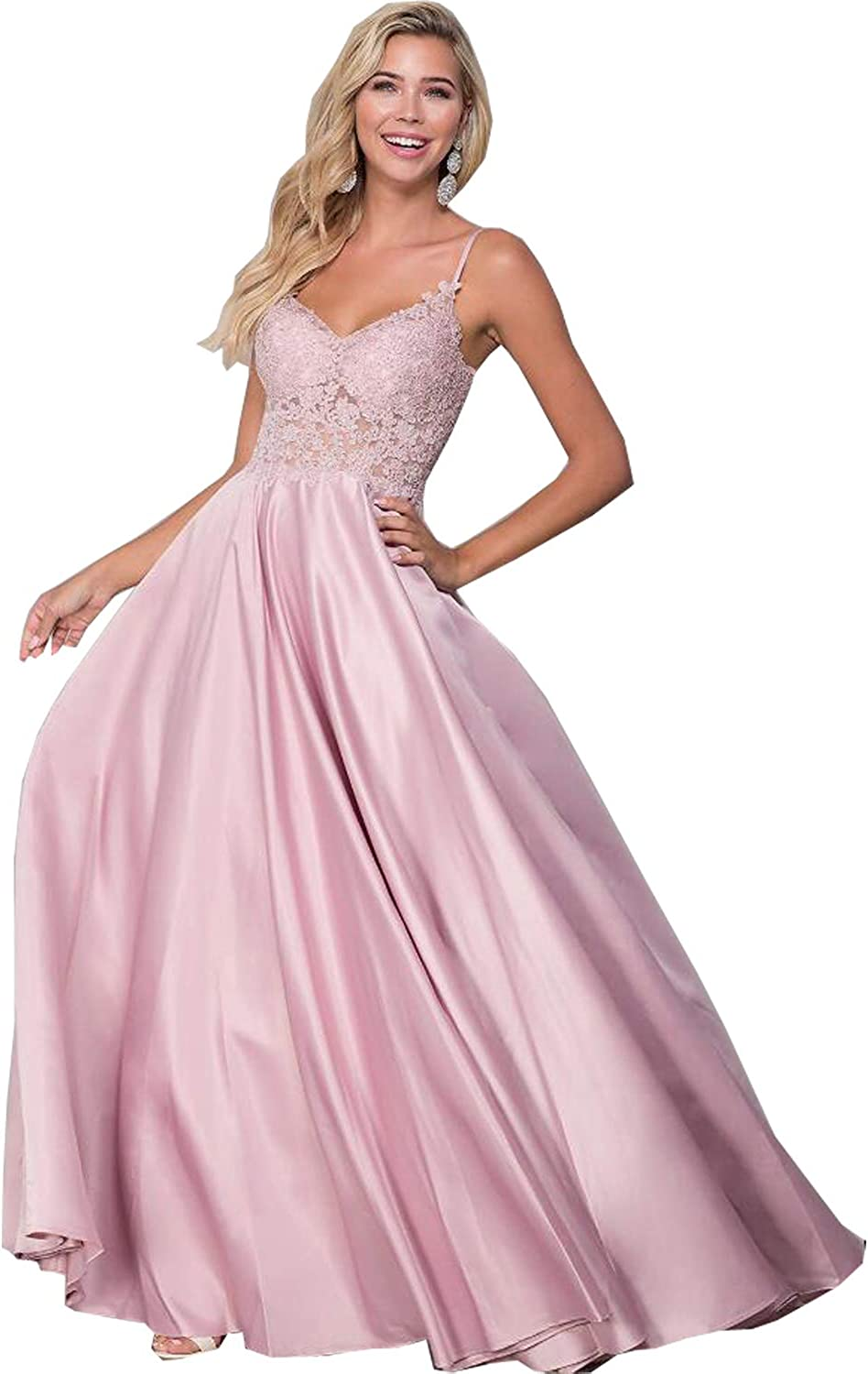 Cadoly Women's Long Bridesmaid Dresses Max 76% OFF Sales results No. 1 Dress Prom Formal Ev Lace