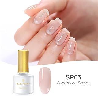 Born Pretty - Esmalte de uñas en gel color rosa y piel