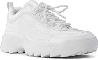 RF ROOM OF FASHION Women's Dad Sneakers Lace-up Light Weight Chunky Platform Shoes