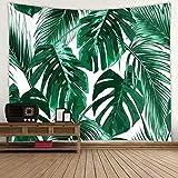 VIHII Wandteppich Tapisserie Multicolored Fantasy Wandbehang Wandtuch, für Pavillon Strandhaus,Wandteppich mit detailliertem Druck für Picknick Strand 1 Stück,150x200cm,Wandteppich Grüne Pflanze