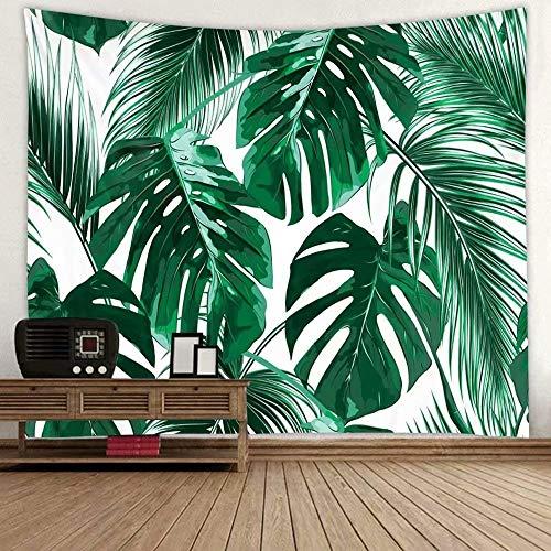 Wandteppich Tapisserie Multicolored Fantasy Wandbehang Wandtuch, für Pavillon Strandhaus,Wandteppich mit detailliertem Druck für Picknick Strand 1 Stück,150x200cm,Wandteppich Grüne Pflanze