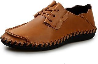 [QIFENGDIANZI] 靴 メンズ ドライビングシューズ カジュアルシューズ ローファー スリッポン モカシン デッキシューズ ビジネスシューズ お洒落 身長アップ 軽量 通気性 アウトドア ローカット 通勤 通学 グレー 赤 黒 ブラウン