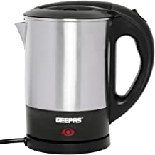 Geepas Travel Electric Kettle | Stainless Steel Housing, Boil-Dry & Overheat Protection | Heats up Quickly & Easily| Boile...