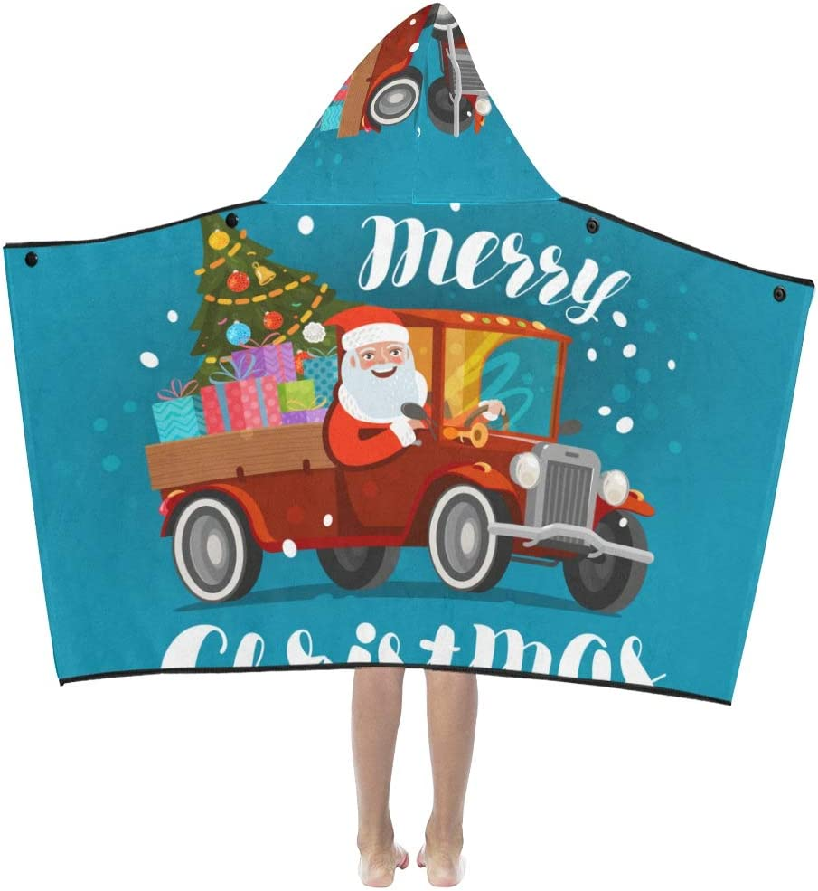 JIAJIA Girl Bath Towel Santa Claus Drive Max 59% OFF Kids Max 52% OFF Gifts with H Truck