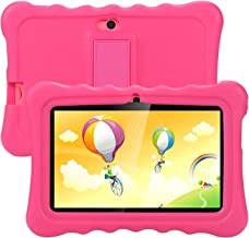Tagital T7K Plus Kids Tablet, 7 inch Display, Kids Mode Pre-Installed, with WiFi and Camera and Games, HD Kids Edition (Pink)